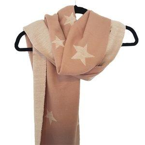 Accessories - Pink Stars Oversized Big Super-Soft Winter Scarf